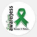 Liver Cancer Awareness 5 Round Sticker