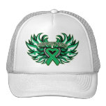 Liver Cancer Awareness Heart Wings.png Hats