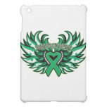 Liver Cancer Awareness Heart Wings.png iPad Mini Case