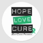 LIVER CANCER Awareness Hope Love Cure Round Sticker