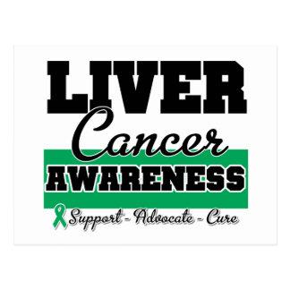 Liver Cancer Awareness Post Cards