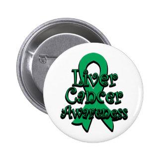 Liver Cancer Awareness Ribbon 6 Cm Round Badge