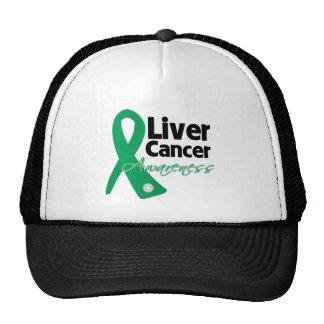 Liver Cancer Awareness Ribbon Mesh Hat