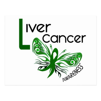 Liver Cancer BUTTERFLY 3.1 Postcard