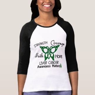 Liver Cancer Celtic Butterfly 3 T-shirts