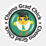 Liver Cancer Chemo Grad Chick Stickers
