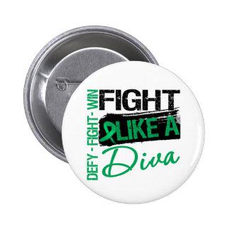 Liver Cancer - Fight Like a Diva 6 Cm Round Badge