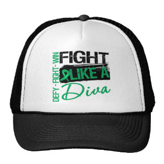 Liver Cancer - Fight Like a Diva Mesh Hats