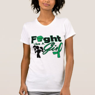 Liver Cancer Fight Like A Girl Silhouette T-shirt