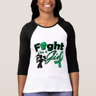 Liver Cancer Fight Like A Girl Silhouette T Shirt