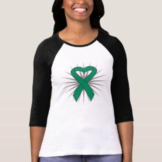 Liver Cancer Heart Ribbon Shirts