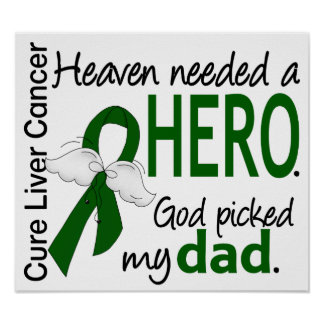Liver Cancer Heaven Needed a Hero Dad Poster