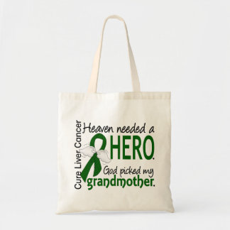 Liver Cancer Heaven Needed a Hero Grandmother Budget Tote Bag