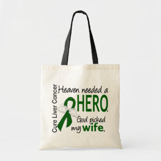 Liver Cancer Heaven Needed a Hero Wife Budget Tote Bag