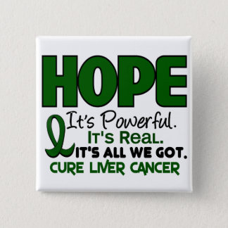 Liver Cancer HOPE 1 15 Cm Square Badge