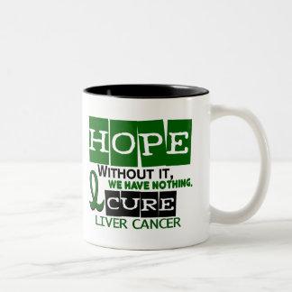 Liver Cancer HOPE 2 Two-Tone Coffee Mug