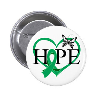 Liver Cancer Hope Butterfly Heart Décor 6 Cm Round Badge