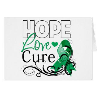 Liver Cancer Hope Love Cure Greeting Card