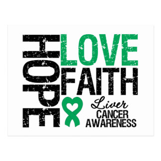 Liver Cancer Hope Love Faith Postcard