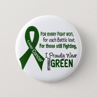 Liver Cancer I Proudly Wear Emerald Green 1 6 Cm Round Badge