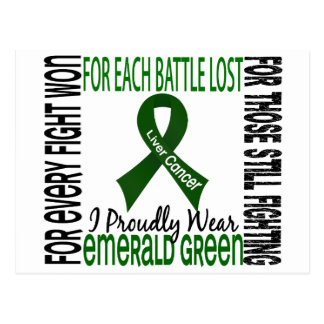 Liver Cancer I Proudly Wear Emerald Green 2 Postcard