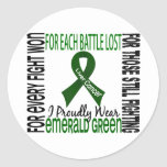 Liver Cancer I Proudly Wear Emerald Green 2 Round Sticker