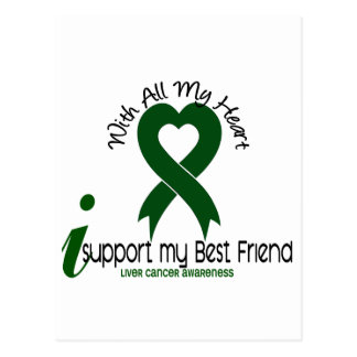 LIVER CANCER I Support My Best Friend Post Cards