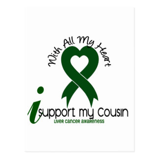 LIVER CANCER I Support My Cousin Postcard