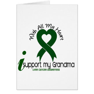 LIVER CANCER I Support My Grandma Greeting Card