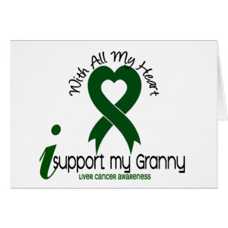 LIVER CANCER I Support My Granny Greeting Card