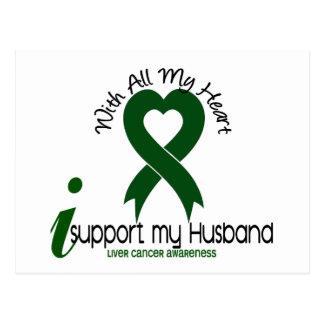 LIVER CANCER I Support My Husband Postcard