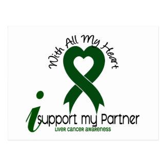 LIVER CANCER I Support My Partner Postcard