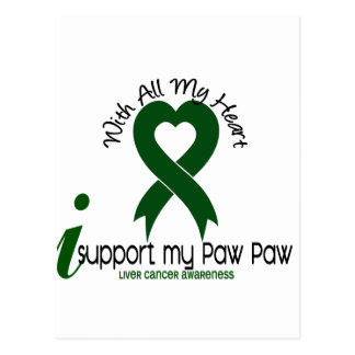 LIVER CANCER I Support My Paw Paw Postcard