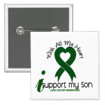 LIVER CANCER I Support My Son Pinback Buttons