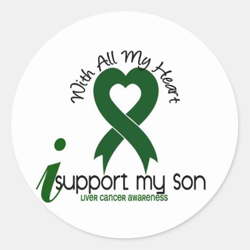 LIVER CANCER I Support My Son Round Sticker