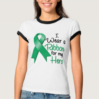 Liver Cancer I Wear a Ribbon For My Hero Tshirts