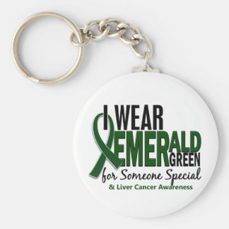 Liver Cancer I Wear E Green For Someone Special 10 Key Chains