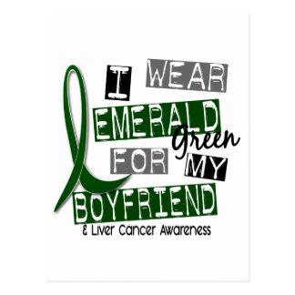 Liver Cancer I Wear Emerald For My Boyfriend 37 Postcard