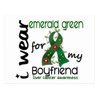 Liver Cancer I Wear Emerald For My Boyfriend 43 Postcard