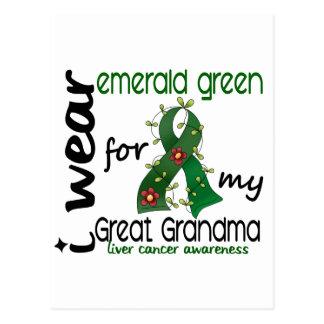 Liver Cancer I Wear Emerald For My Great Grandma Postcard