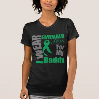 Liver Cancer I Wear Emerald Green Daddy T-shirts