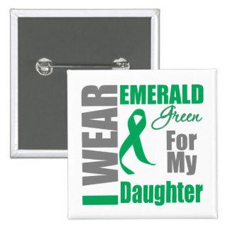 Liver Cancer I Wear Emerald Green Daughter 15 Cm Square Badge