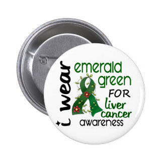 Liver Cancer I Wear Emerald Green For Awareness 43 6 Cm Round Badge