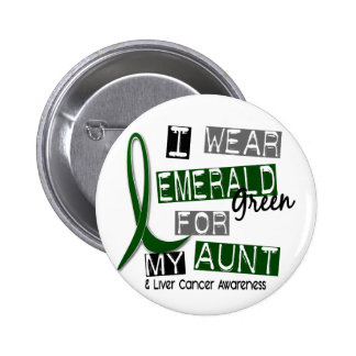 Liver Cancer I Wear Emerald Green For My Aunt 37 6 Cm Round Badge
