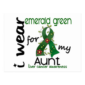 Liver Cancer I Wear Emerald Green For My Aunt 43 Postcard