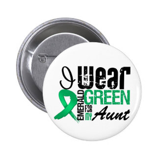 Liver Cancer I Wear Emerald Green For My Aunt 6 Cm Round Badge