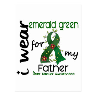 Liver Cancer I Wear Emerald Green For My Father 43 Post Cards