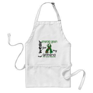 Liver Cancer I Wear Emerald Green For My Girlfrien Standard Apron