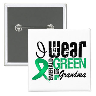 Liver Cancer I Wear Emerald Green For My Grandma 15 Cm Square Badge