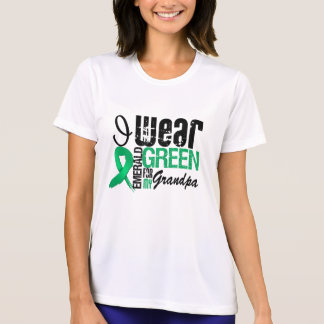 Liver Cancer I Wear Emerald Green For My Grandpa Tee Shirts